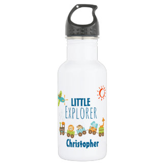Animal Toy Train and Airplane Little Explorer 532 Ml Water Bottle