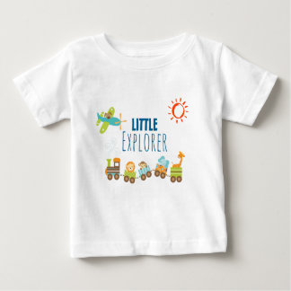 Animal Toy Train and Airplane Little Explorer Baby T-Shirt
