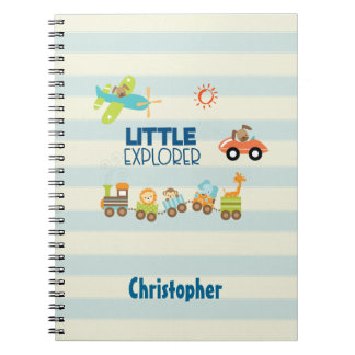 Animal Toy Train Car and Airplane Little Explorer Notebook