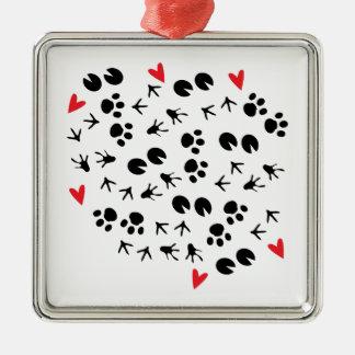 Animal Tracks Christmas Ornaments