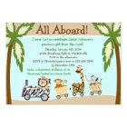 Animal Train Christian Baby Shower Invitation