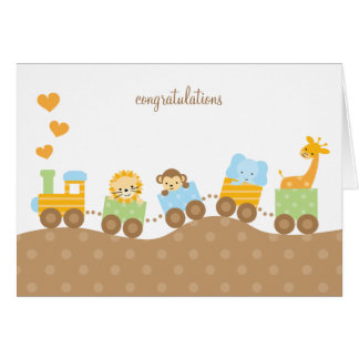 Animal Train Note Cards