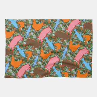 Animal & Vegetable Tea Towel