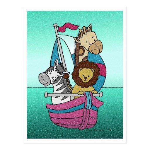 Animal Voyage 25 Baby Shower Invitation Post Card
