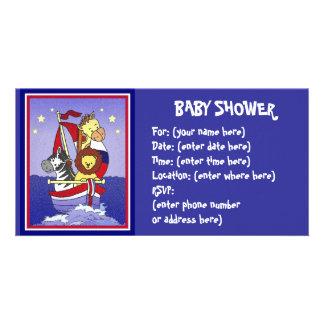 Animal Voyage Americana Baby Shower Card