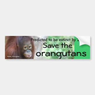 Animal Wildlife Conservation Bumper Sticker