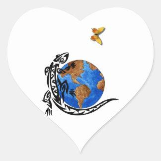 Animal World Heart Sticker