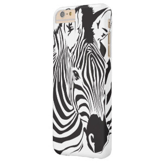 Animal Zebra Face Barely There iPhone 6 Plus Case