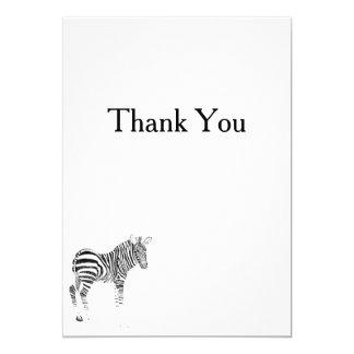 Animal Zebra Print Thank You 13 Cm X 18 Cm Invitation Card