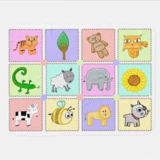 Animal Zoo Baby Blanket