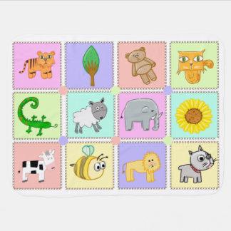 Animal Zoo Baby Blanket
