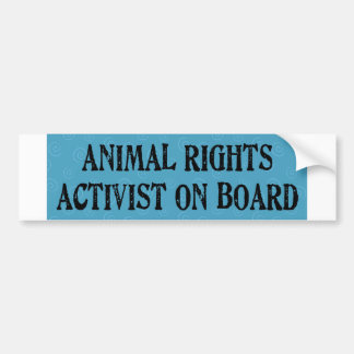 animalactivist bumper sticker