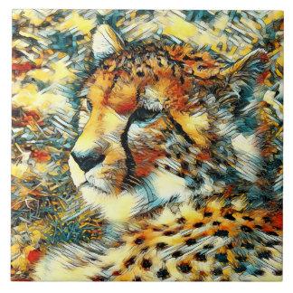 AnimalArt_Cheetah_20170603_by_JAMColors Ceramic Tile