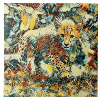 AnimalArt_Cheetah_20171003_by_JAMColors Ceramic Tile