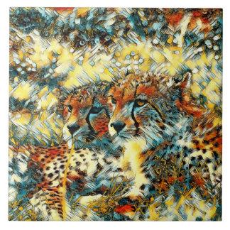 AnimalArt_Cheetah_20171004_by_JAMColors Ceramic Tile