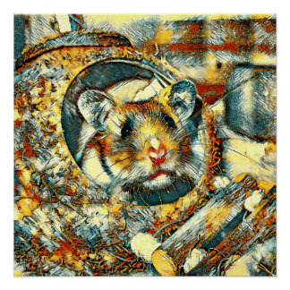 AnimalArt_Hamster_20170902_by_JAMColors Poster