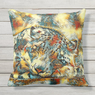AnimalArt_Leopard_20170605_by_JAMColors Cushion