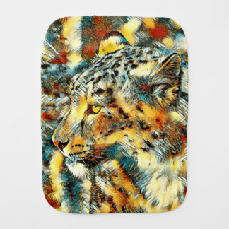 AnimalArt_Leopard_20170606_by_JAMColors Burp Cloth