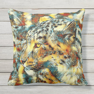 AnimalArt_Leopard_20170606_by_JAMColors Outdoor Cushion