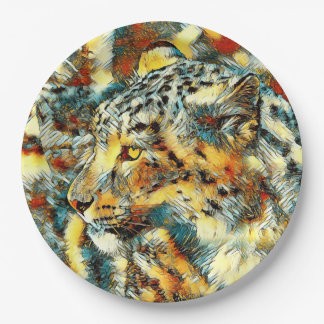 AnimalArt_Leopard_20170606_by_JAMColors Paper Plate