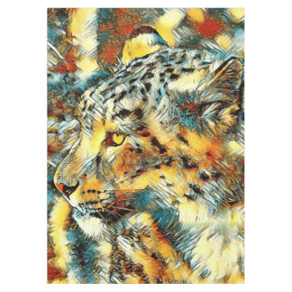 AnimalArt_Leopard_20170606_by_JAMColors Tablecloth