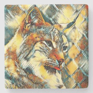 AnimalArt_Lynx_20170601_by_JAMColors Stone Coaster