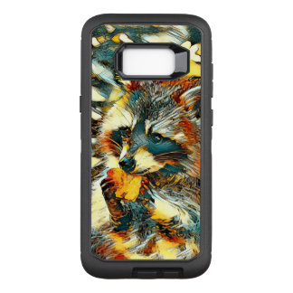 AnimalArt_Raccoon_20170601_by_JAMColors OtterBox Defender Samsung Galaxy S8+ Case