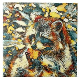 AnimalArt_Raccoon_20170601_by_JAMColors Tile