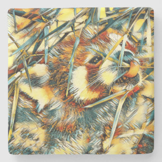 AnimalArt_RedPanda_20170706_by_JAMColors Stone Coaster