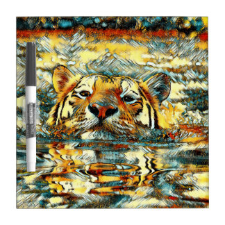 AnimalArt_Tiger_20170601_by_JAMColors Dry Erase Board