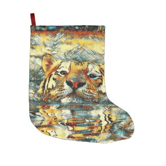 AnimalArt_Tiger_20170601_by_JAMColors Large Christmas Stocking