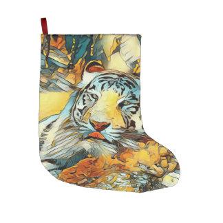 AnimalArt_Tiger_20170603_by_JAMColors Large Christmas Stocking