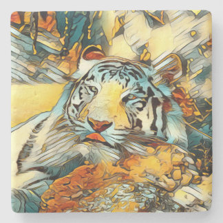 AnimalArt_Tiger_20170603_by_JAMColors Stone Coaster