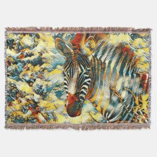 AnimalArt_Zebra_20170703_by_JAMColors Throw Blanket