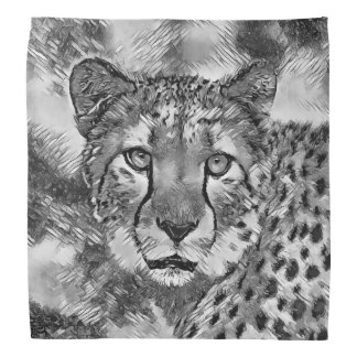 AnimalArtBW_Cheetah_20170604_by_JAMColors Bandana
