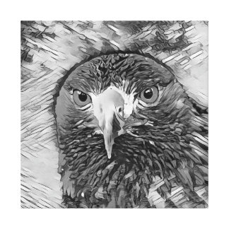 AnimalArtBW_Eagle_20170602_by_JAMColors Canvas Print