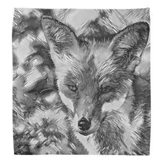 AnimalArtBW_Fox_20170601_by_JAMColors Bandana