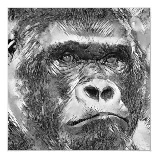 AnimalArtBW_Gorilla_20170602_by_JAMColors Magnetic Card