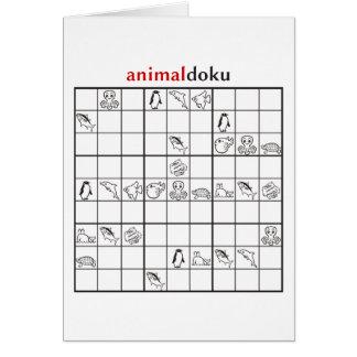 animaldoku aquatic greeting card