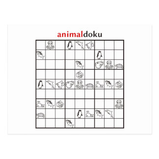animaldoku aquatic postcard