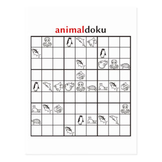 animaldoku aquatic postcard