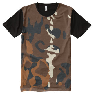 Animalistic All-Over Print T-Shirt