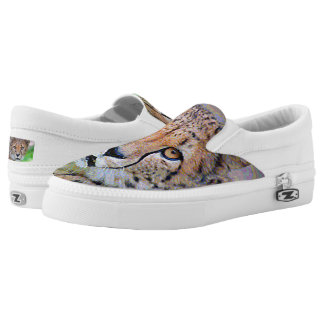 AnimalPaint_Cheetah_20171201_by_JAMColors Slip-On Shoes