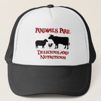Animals are Delicious and Nutritious Trucker Hat