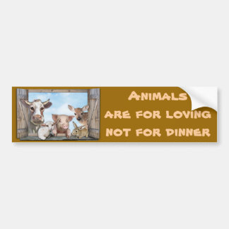 Animals are for loving car bumper sticker