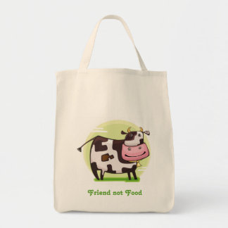 Animals are Friends Not Food Grocery Tote
