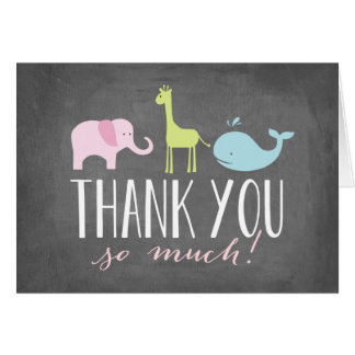 Animals   Baby Shower Thank You Card