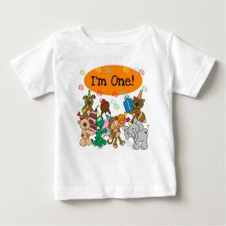 Animals First Birthday Baby T-Shirt