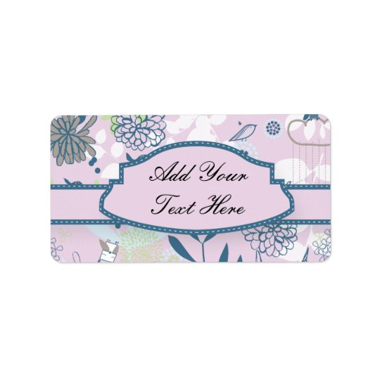 Animals & Flowers Address Label