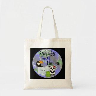 Animals Globe Tote Bag